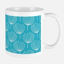 Abstract Dandelions on Crisp Blue Backg Mug