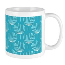 Abstract Dandelions on Crisp Blue Backg Mug
