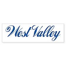 West Valley (cursive) Bumper Bumper Sticker