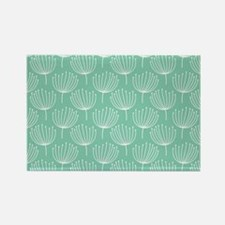 Abstract Dandelions on Pastel Aqu Rectangle Magnet