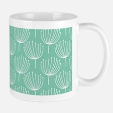 Abstract Dandelions on Pastel Aqua Mug