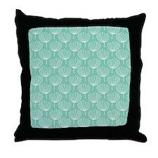 Abstract Dandelions on Pastel Aqua Throw Pillow