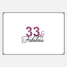 33 and Fabulous Banner