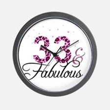 33 and Fabulous Wall Clock