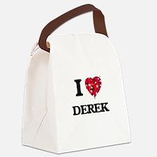 I Love Derek Canvas Lunch Bag