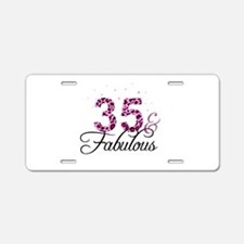 35 and Fabulous Aluminum License Plate