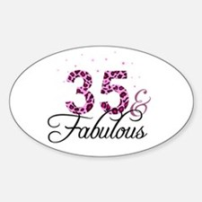 35 and Fabulous Decal