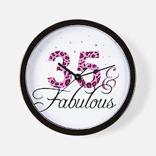 35 and Fabulous Wall Clock