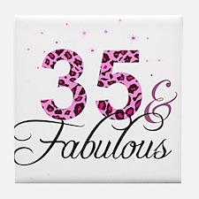 35 and Fabulous Tile Coaster