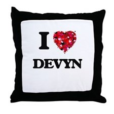 I Love Devyn Throw Pillow