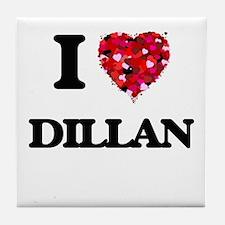 I Love Dillan Tile Coaster