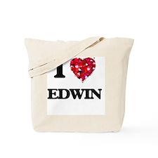 I Love Edwin Tote Bag
