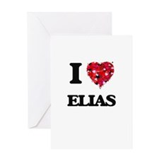 I Love Elias Greeting Cards