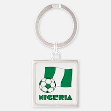 Nigeria Flag and Soccer Keychains