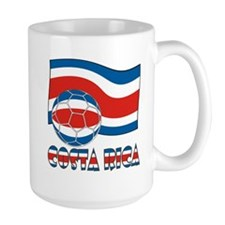 Costa Rica Soccer Ball and Civil Ensign Mug