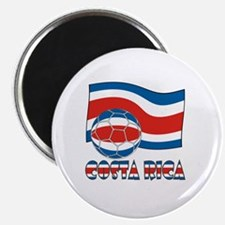 Costa Rica Soccer Ball and Civil Ensign Fla Magnet