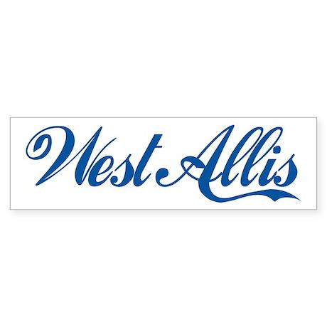 West Allis (cursive) Bumper Sticker