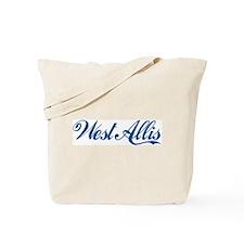 West Allis (cursive) Tote Bag