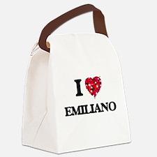 I Love Emiliano Canvas Lunch Bag