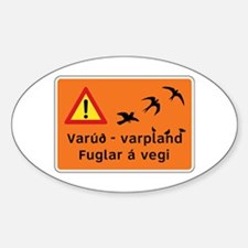 Breeding Area for Birds, Iceland Decal