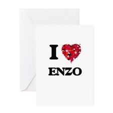 I Love Enzo Greeting Cards