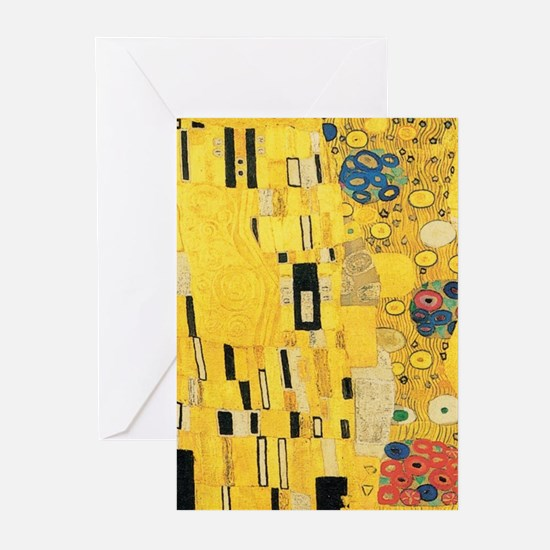 Klimt the Kiss Pattern Detail Greeting Cards
