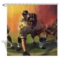 Football Players Painting Shower Curtain