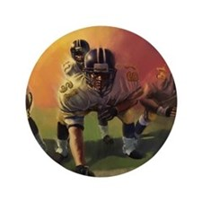 Football Players Painting Button