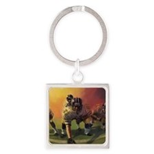 Football Players Painting Keychains