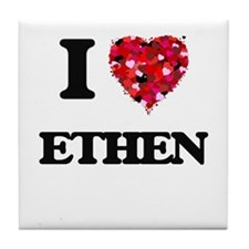 I Love Ethen Tile Coaster