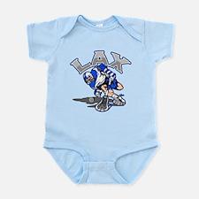 Lacrosse Player In Blue Infant Bodysuit