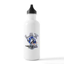 Lacrosse Player In Blu Water Bottle