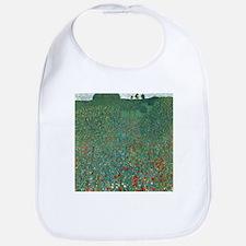Poppy Field by Gustav Klimt Bib