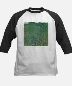 Poppy Field by Gustav Klimt Baseball Jersey