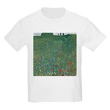 Poppy Field by Gustav Klimt T-Shirt