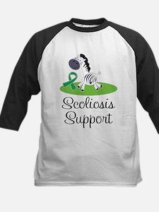 Scoliosis Awareness green ribbon Baseball Jersey