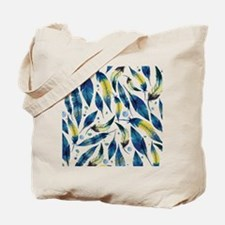 Feathers Blue Tote Bag