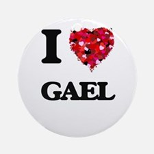 I Love Gael Ornament (Round)