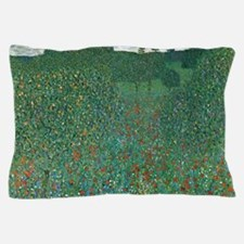 Poppy Field by Gustav Klimt Pillow Case