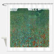 Poppy Field by Gustav Klimt Shower Curtain