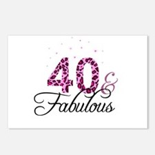 40 and Fabulous Postcards (Package of 8)