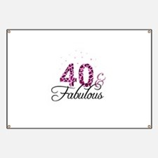 40 and Fabulous Banner