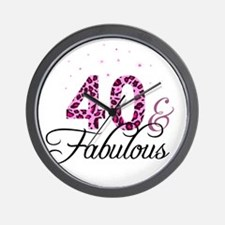 40 and Fabulous Wall Clock
