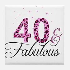40 and Fabulous Tile Coaster