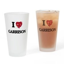 I Love Garrison Drinking Glass