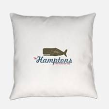 The Hamptons - Whale Design. Everyday Pillow