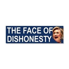 The Face Of Dishonesty Car Magnet 10 X 3