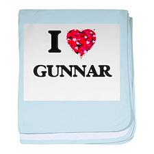 I Love Gunnar baby blanket