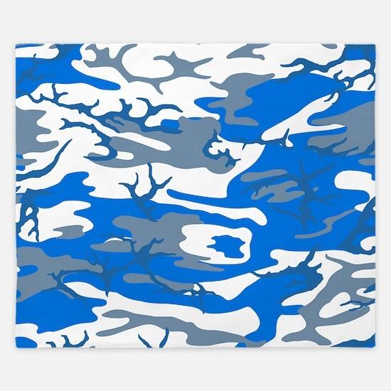 Ice Water Blue King Duvet