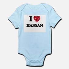 I Love Hassan Body Suit